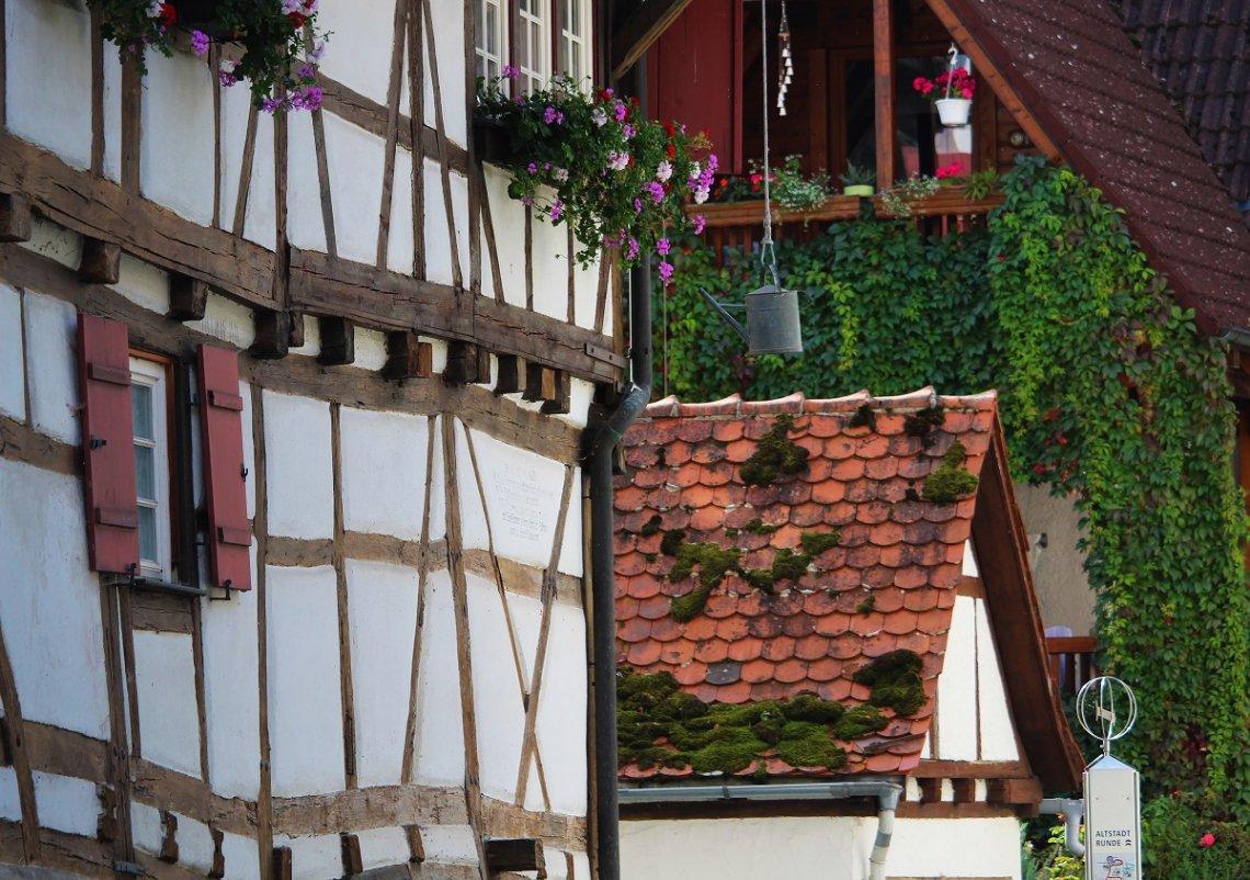 Fachwerkhäuser in der Altstadt von Blaubeuren
