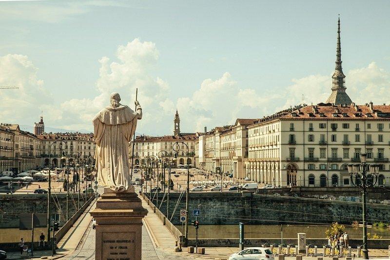 Architektur und Kunst in Turin, Italien