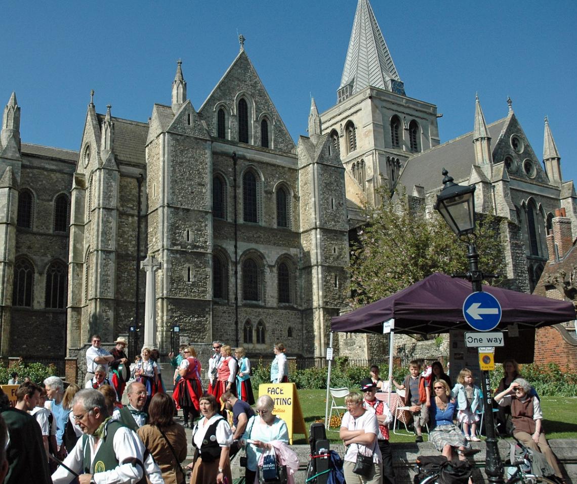 Aussenansicht Rochester Cathedral in England