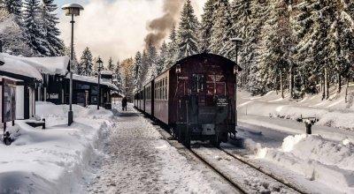 Harz in de winter