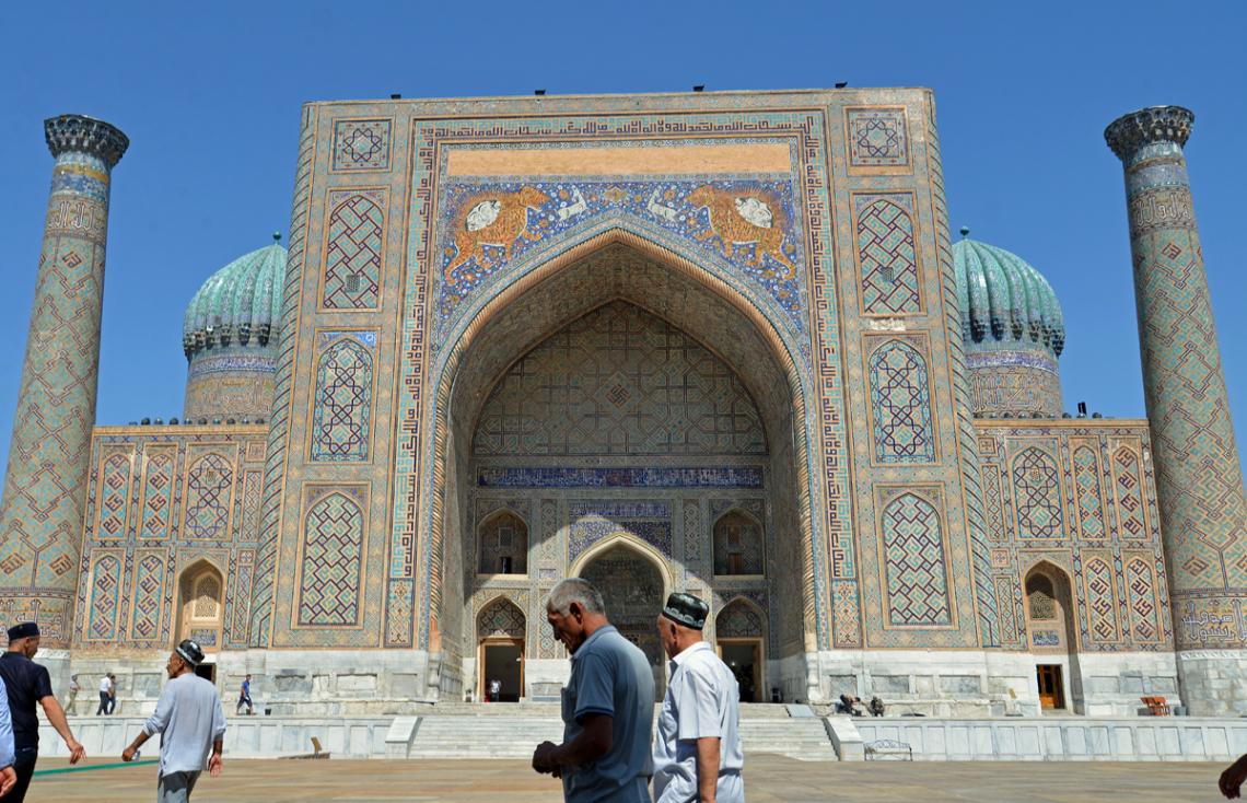 Sherdor Medrese in Samarkand, Usbekistan