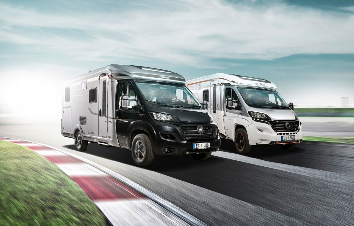 Hymer motorhomes with Fiat Ducato chassis