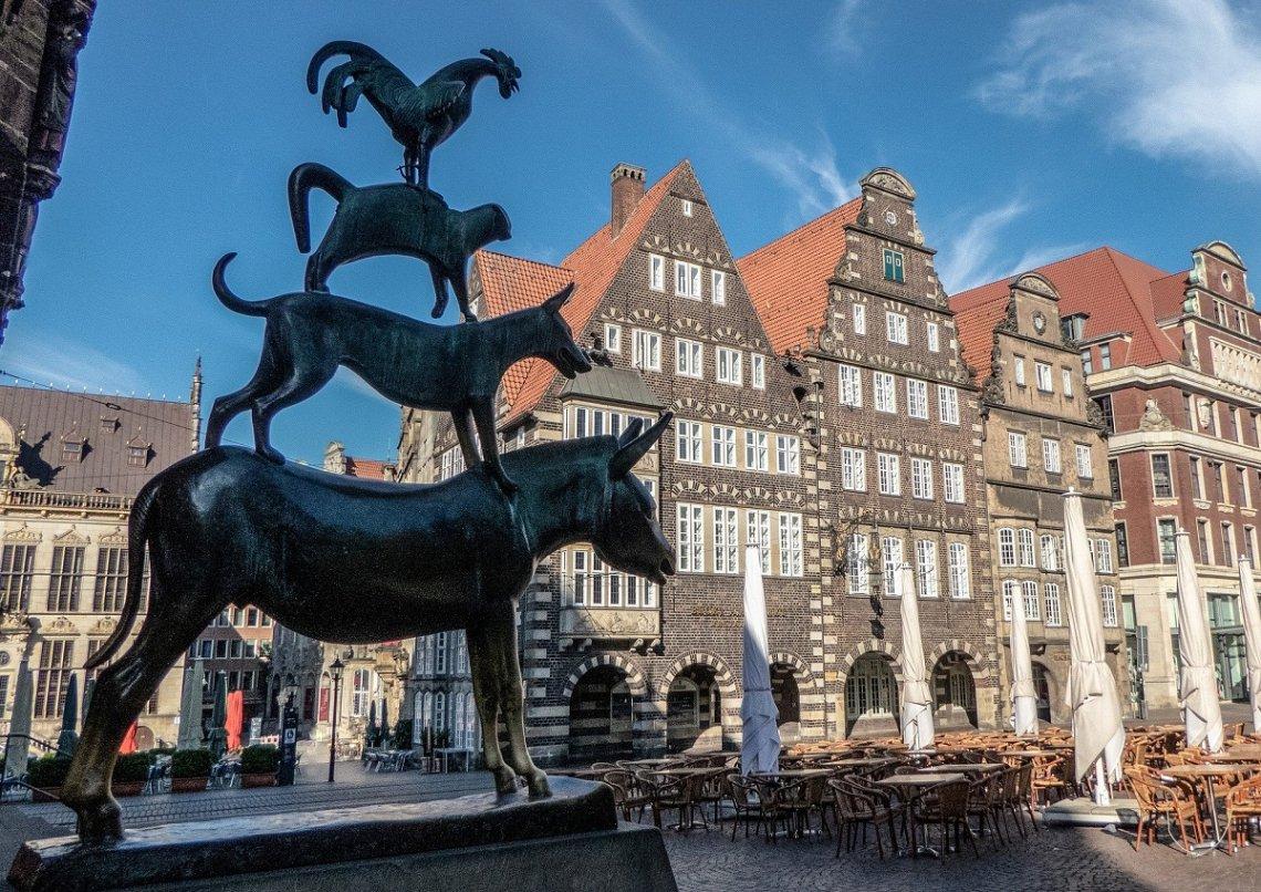 Denkmal der Bremer Stadtmusikanten in Bremen
