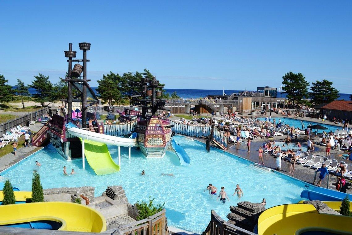 Poolbereich mit Abenteuerbereich auf dem Campingplatz Böda Sand auf Öland