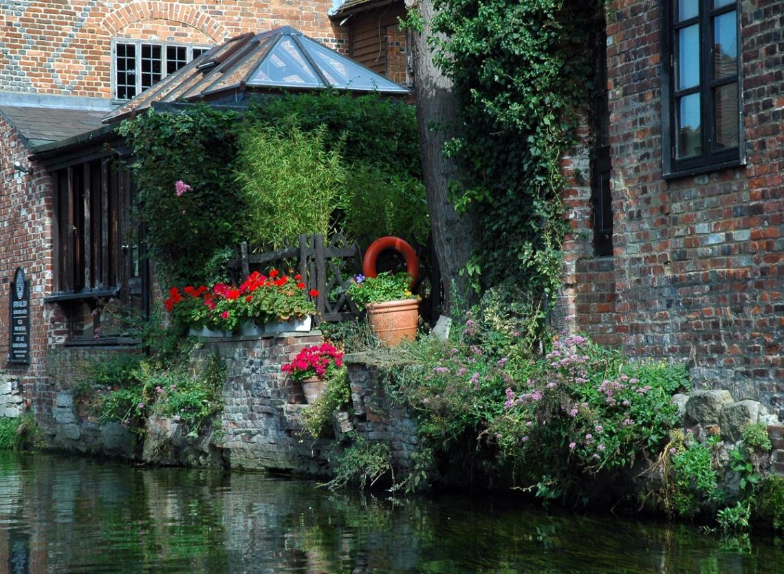 Fluss Stour, Canterbury, England