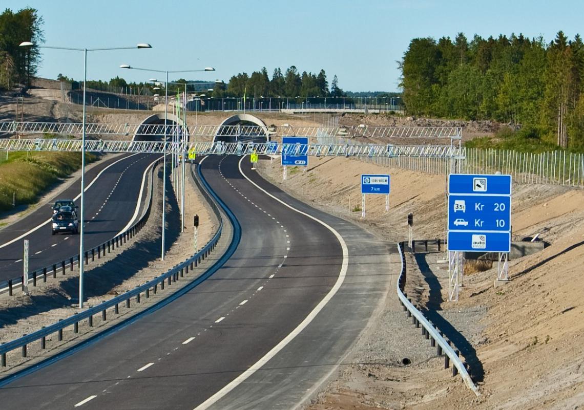 Toll road Norway E28 Skinmo