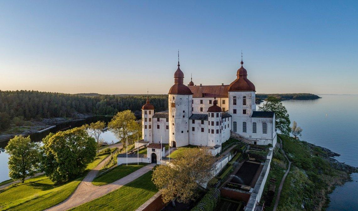 Barockschloss Läckö auf der Insel Kållandsö im See Vänern