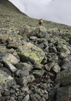 Descent Mugnetind Valdres Norway