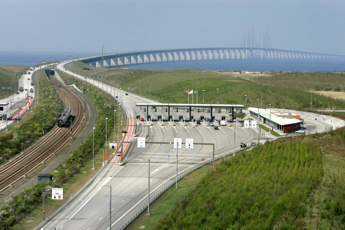 Mautstation Öresundbrücke Malmö-Lernacken