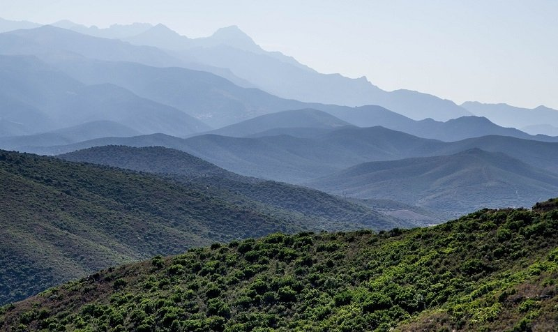 View over the mountains of Corsica