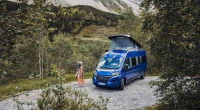 Carado Campervan Edition15 in blau von außen