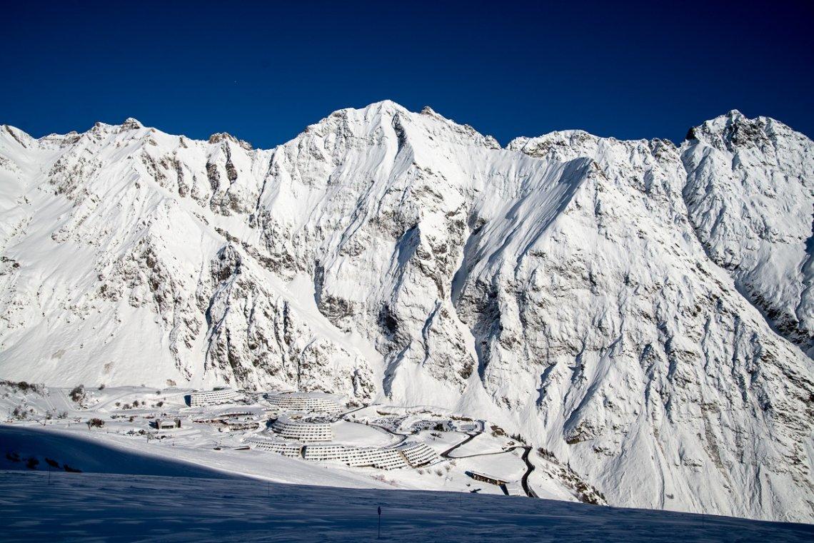 Blick auf das Skigebiet Piau-Engaly in Frankreich