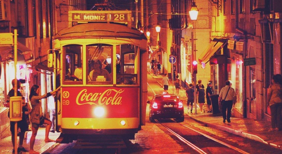 The no. 28 tram, Lisbon