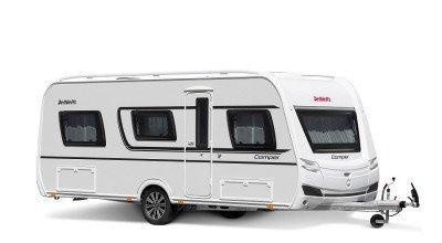 Wohnwagen Camper Modell 2022 Seitenansicht von außen