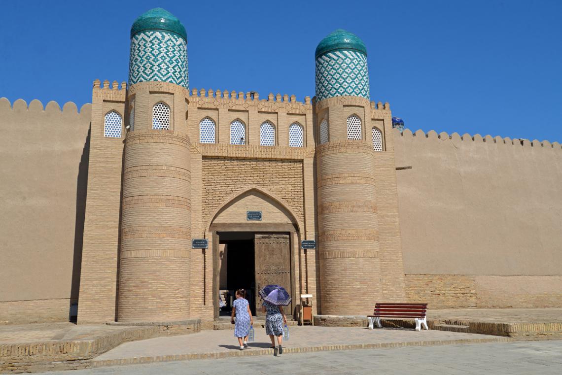 Stadtmauer Khiva Usbekistan