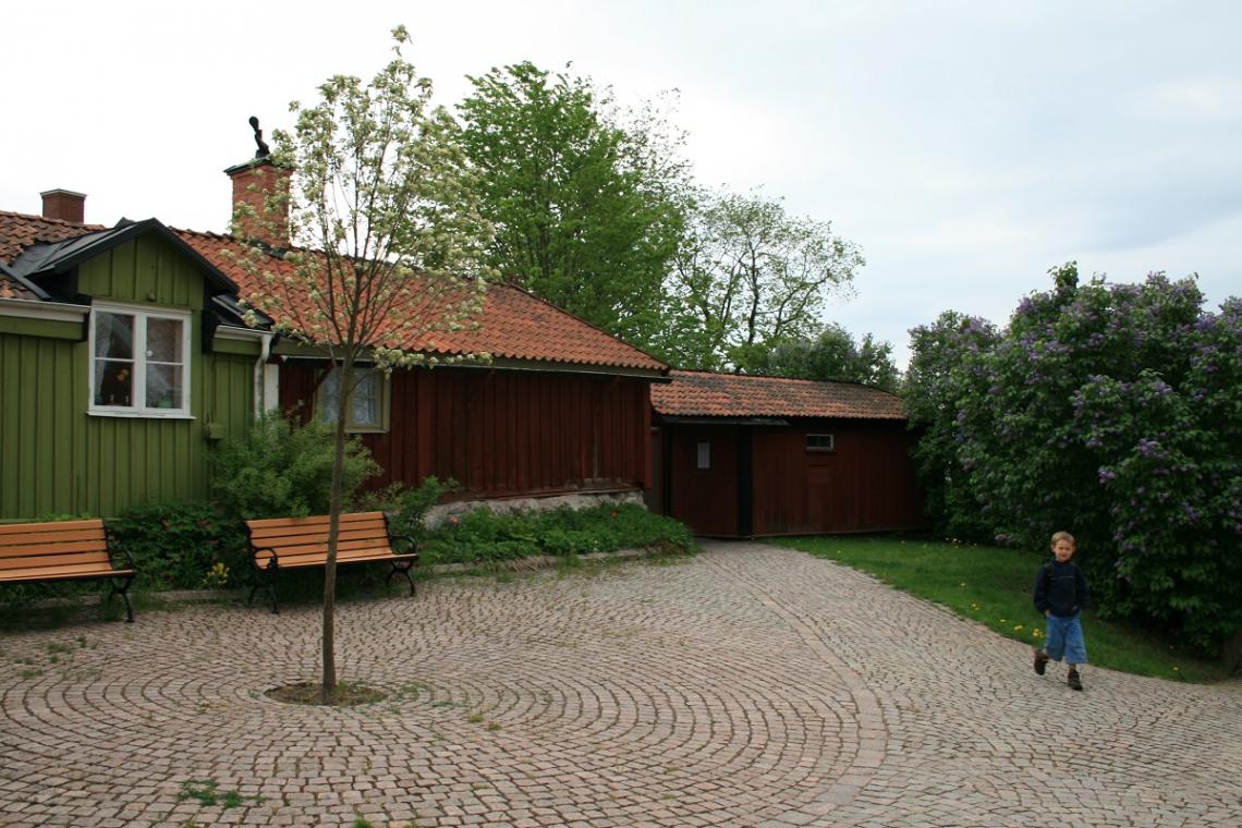 Old wooden houses Vimmerby Sweden