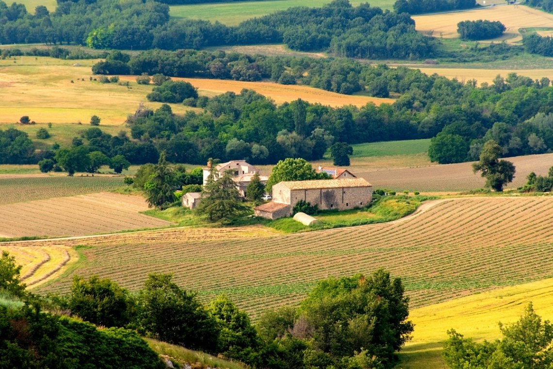 Hilly hinterland in Provence