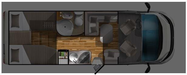 Grundriss Längsküche Wohnmobil