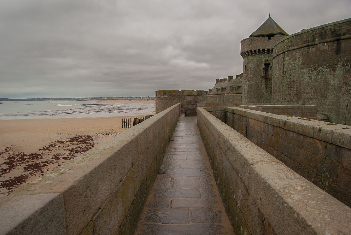 Old town of Saint Malo, Brittany