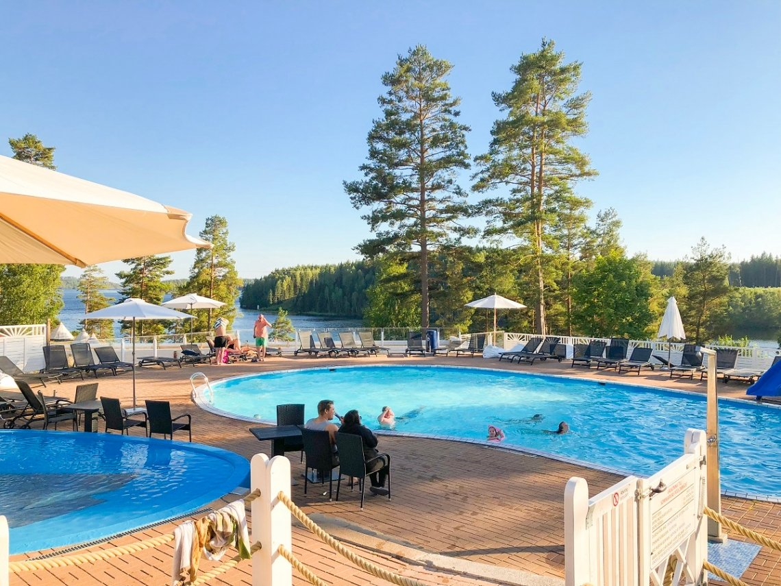 Zwembad op Årjäng Camping & Stugor Sommarvik