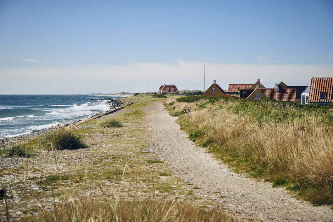 Denmark Skagen houses and sea