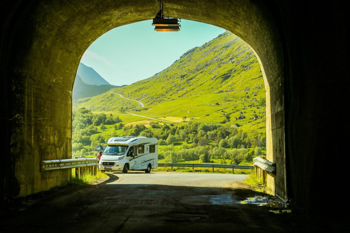 Camper op de Lofoten, Noorwegen