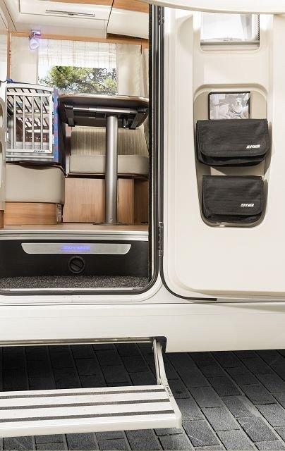 Tür-Organizer in der Innentür eines Hymer Reisemobils verbaut