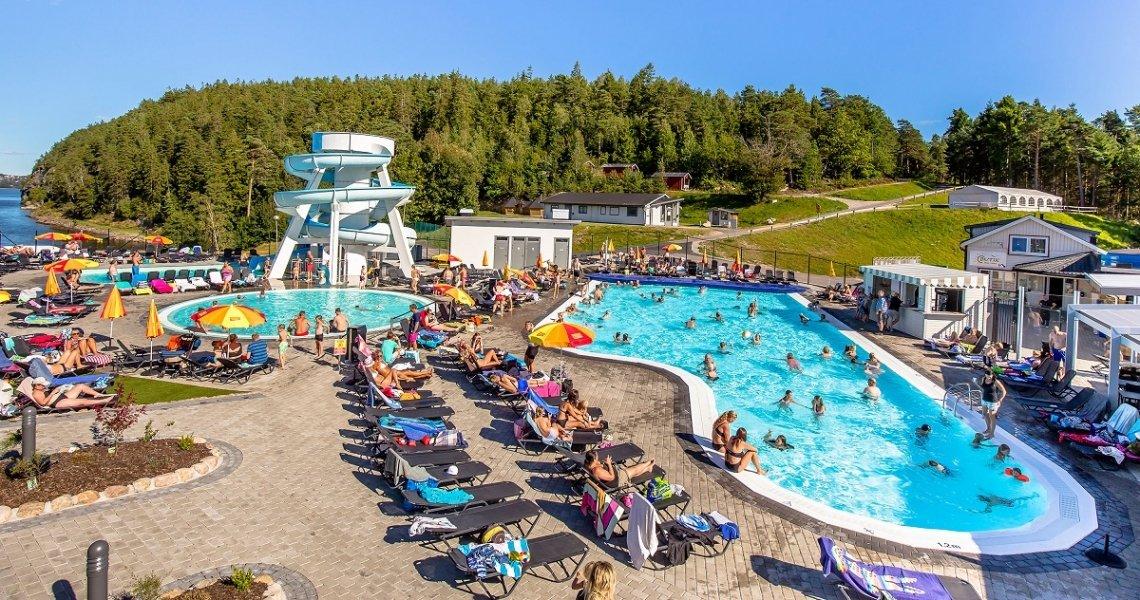 Poolarea in the Hafsten Resort, Sweden