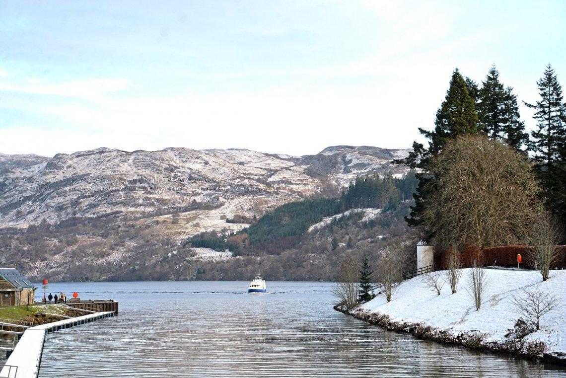 Hafeneinfahrt am Loch Ness in Fort Augustus