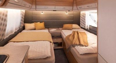 Einzelbetten im Dethleffs Wohnwagen Camper 510 EL