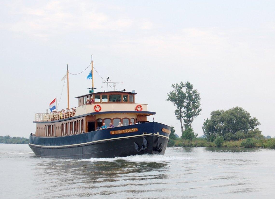 Historic ship De Veerman van Kampen on the IJssel, Netherlands