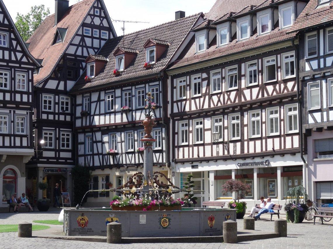 Fachwerkhäuser am Marktplatz von Schorndorf