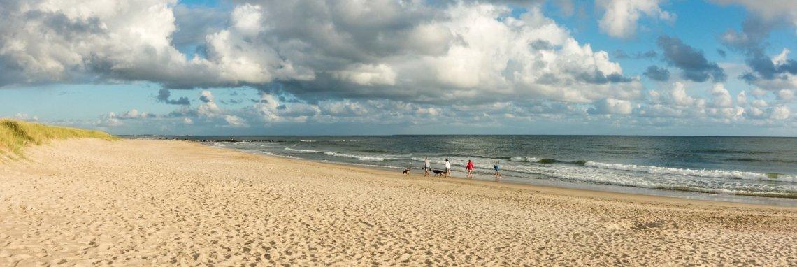 Walk on Hvidbjerg Strand in Denmark