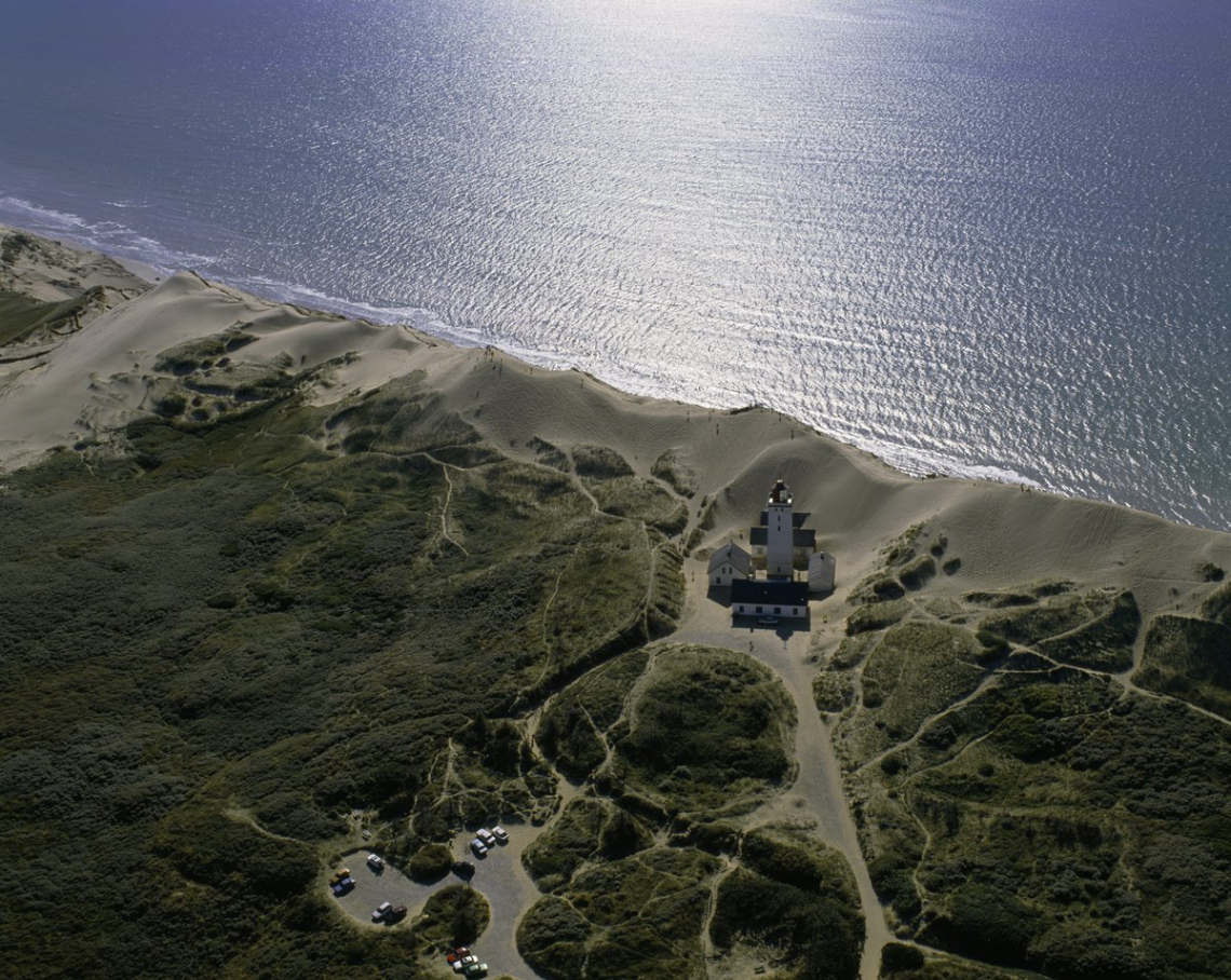 Denmark's Rubjerg Knude lighthouse from above 2018