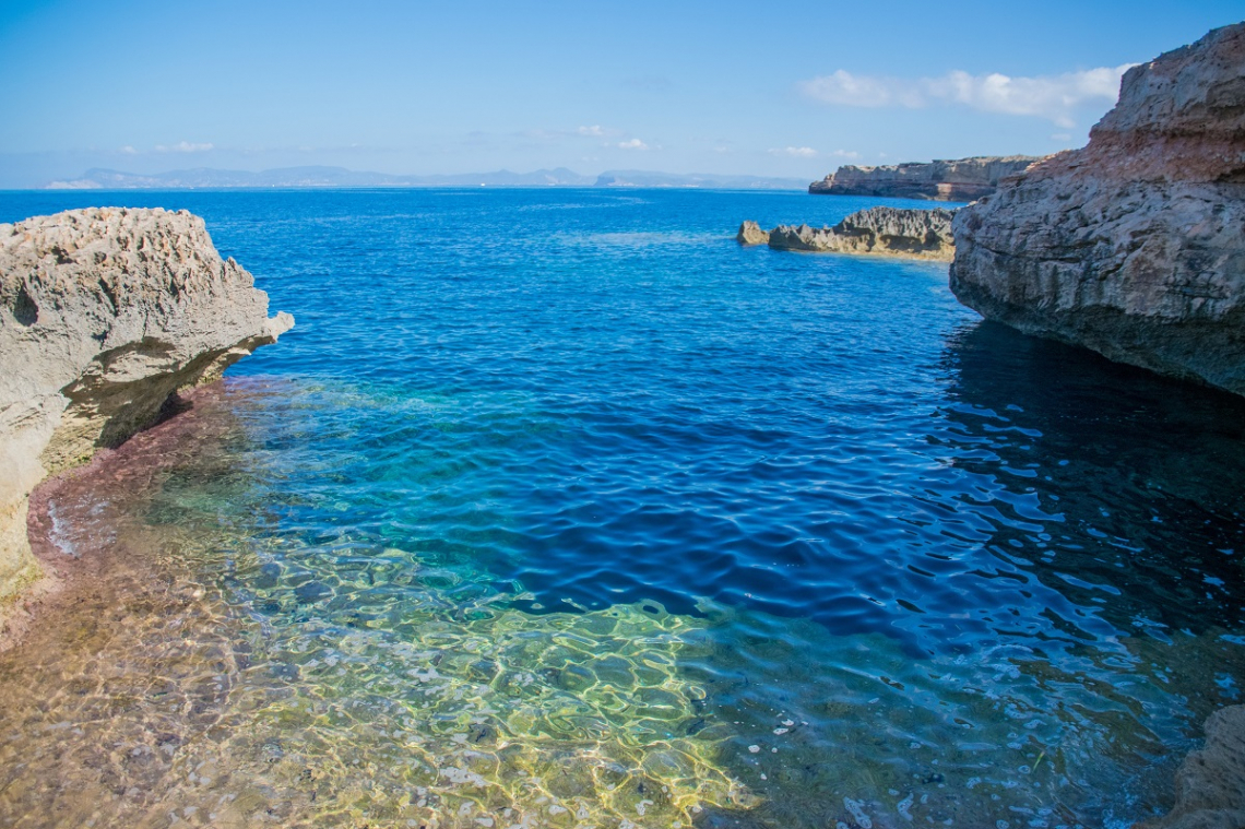 Bucht Formentera Ausblick Ibiza