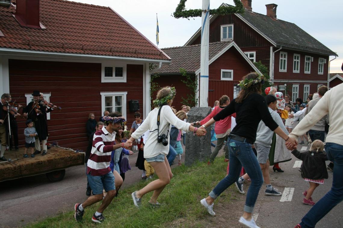 Mittsommerfest Tibble Dalarna, Schweden