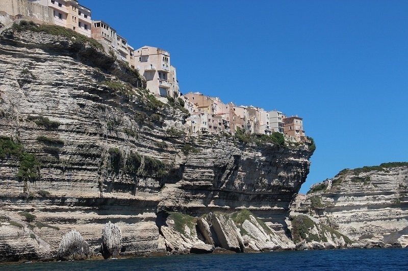 Bonifacio seen from the seaside