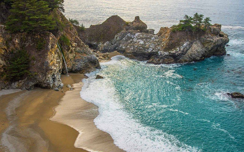 Pacific coast in the US
