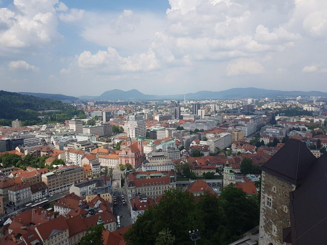 De Sloveense hoofdstad Ljubljana