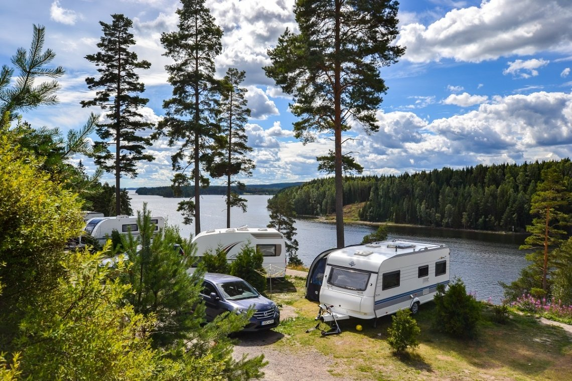 view of  Årjäng Camping & Stugor Sommarvik at lake Västra Silen