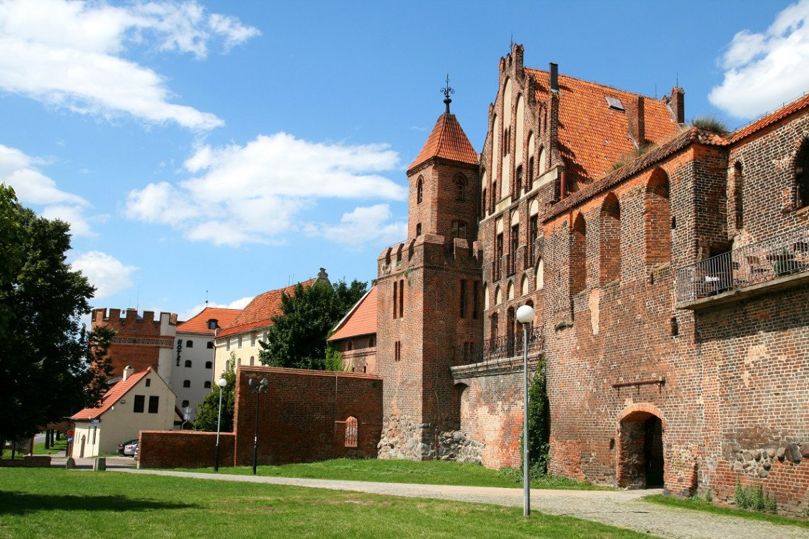 Teil der historischen Stadtmauer von Torun