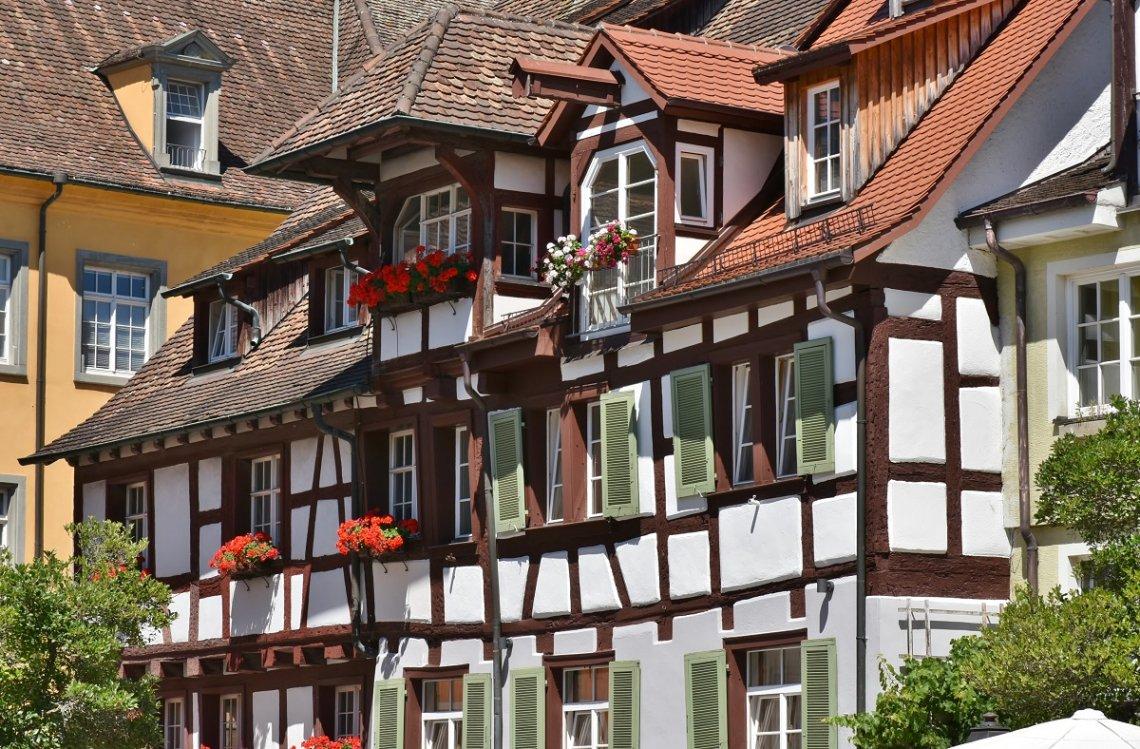 Historisches Fachwerkhaus in der Altstadt von Meersburg