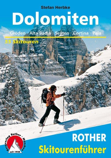 Titelbild des Rother Skitourenführers Dolomiten