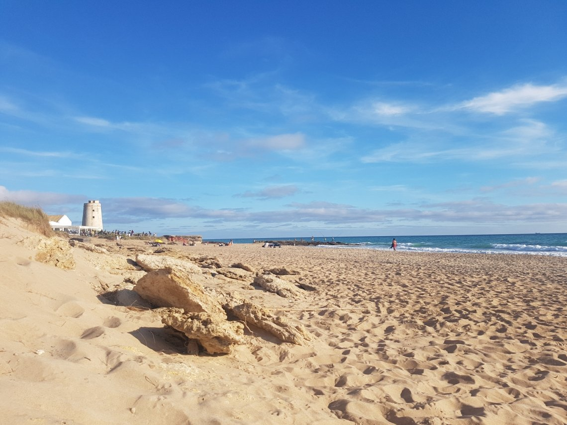 sandy beach at the Costa de la Luz