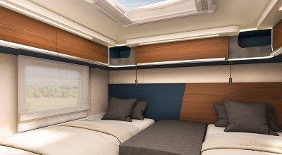 Schlafbereich im Laika Wohnmobil Kreos Modell 2022