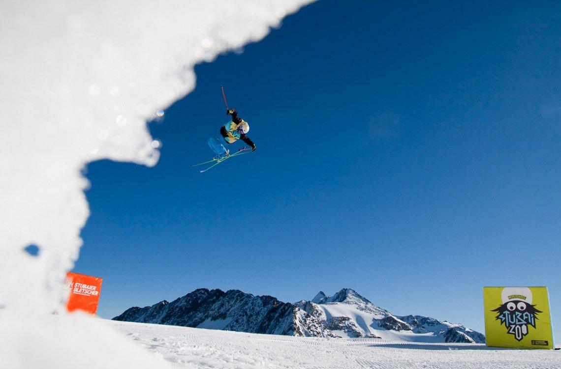 Skifahren Freestyle am Stubaier Gletscher