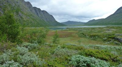 Wanderung Norwegen Knutshøe Tal Leirungen