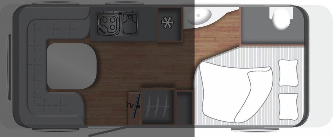 Wohnwagen Grundriss Französisches Bett