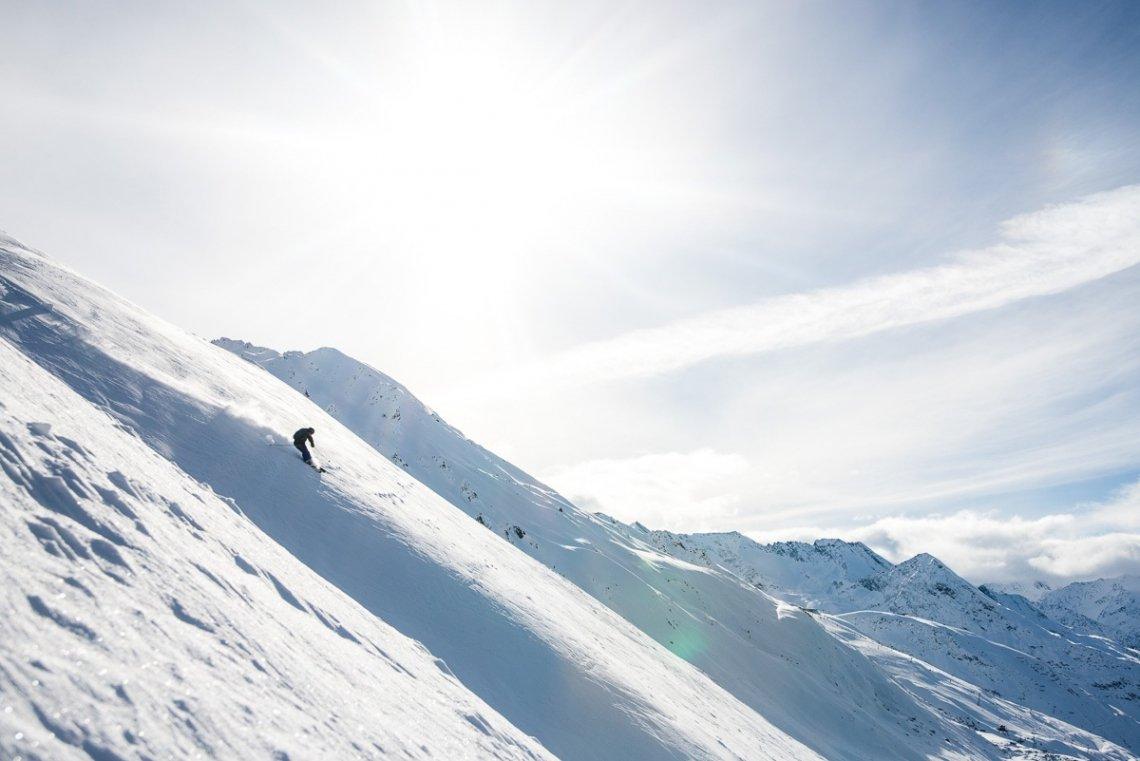 Freeriden im Skigebiet Obergurgl, Tirol