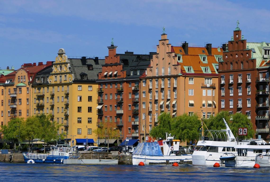 Stockholm Fassaden Boote
